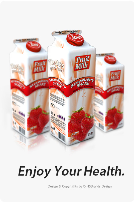 Strawberry Milk / Projekt opakowania etykieta na pojemniki plastikowe etykieta na produkty spożywcze etykiety na nabiał Product Design projekt etykiety projekt etykiety na ser projekt na opakowanie projekt na tetra pack projekt pudełka kartonowe