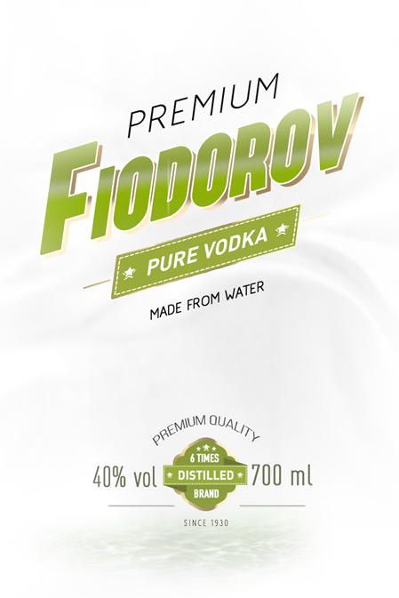 Fiodorov Vodka / projekt etykiety etykieta na alkohol etykieta na opakowania szklane Product Design projekt etykiety Projekt etykiety na wódkę projekt na opakowanie