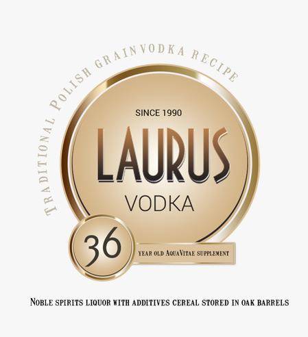Laurus Vodka / Projekt opakowania etykieta na alkohol etykieta na opakowania szklane etykieta na whisky etykiety dla browaru projekt etykiety Projekt etykiety na wódkę Projekt kartonu opakowania na alkohol projekt na opakowanie projekt pudełka kartonowe