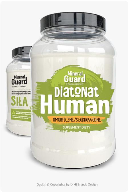 Mineral Guard<sup>®</sup> Projekt opakowania Bez kategorii etykieta na opakowania szklane etykieta na pojemniki plastikowe Etykieta na suplementy diety Product Design projekt etykiety Projekt etykiety na słoiki projekt na opakowanie