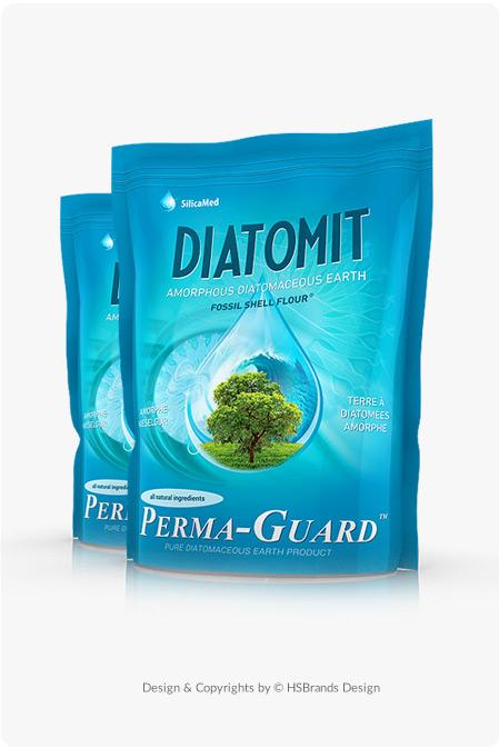 Diatomit / Projekt Doypack Etykieta na doypack Etykieta na suplementy diety Product Design projekt etykiety Projekt opakowania Doypack