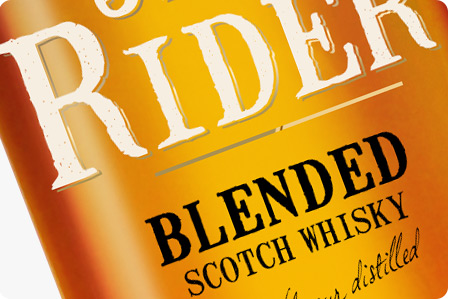 Whisky Jack Rider / projekt opakowania etykieta na alkohol etykieta na opakowania szklane etykieta na whisky Product Design projekt etykiety Projekt etykiety na wódkę projekt na opakowanie